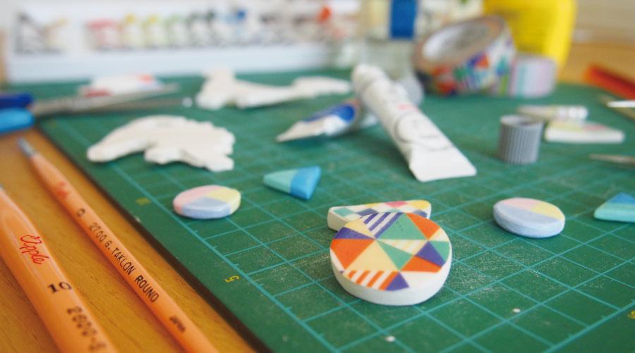 粘土アクセサリーの制作の材料と道具