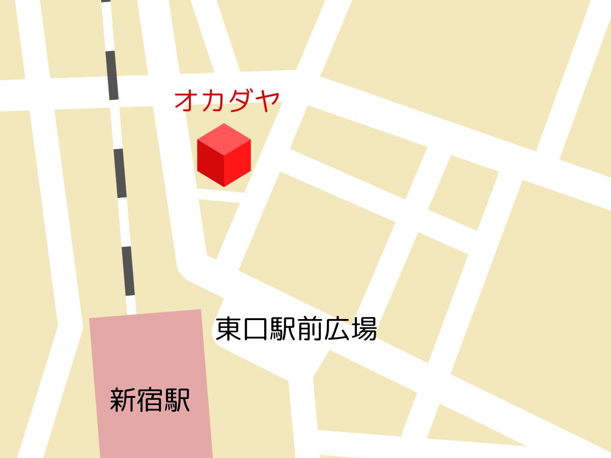 オカダヤ 新宿本店のマップ