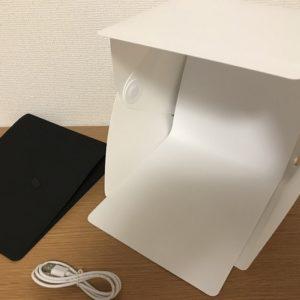 ハンドメイド作品用の撮影ボックス