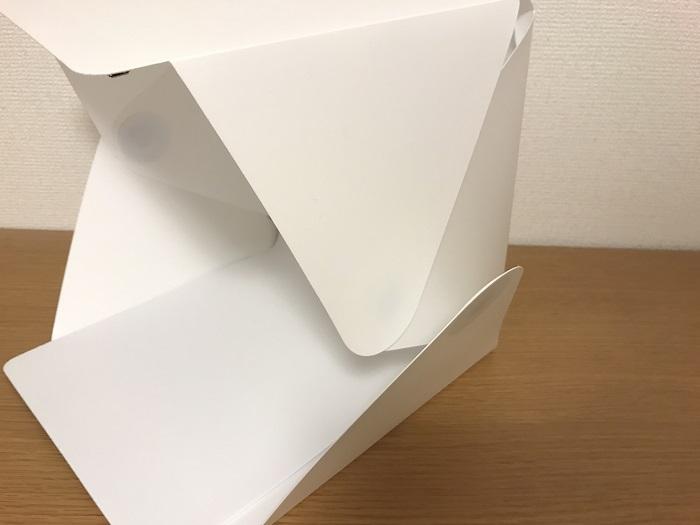 形が安定しない撮影ボックス