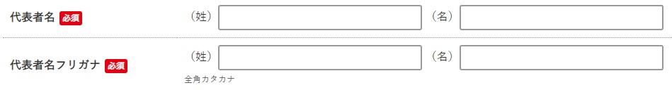 NETSEAの「代表者氏名」登録