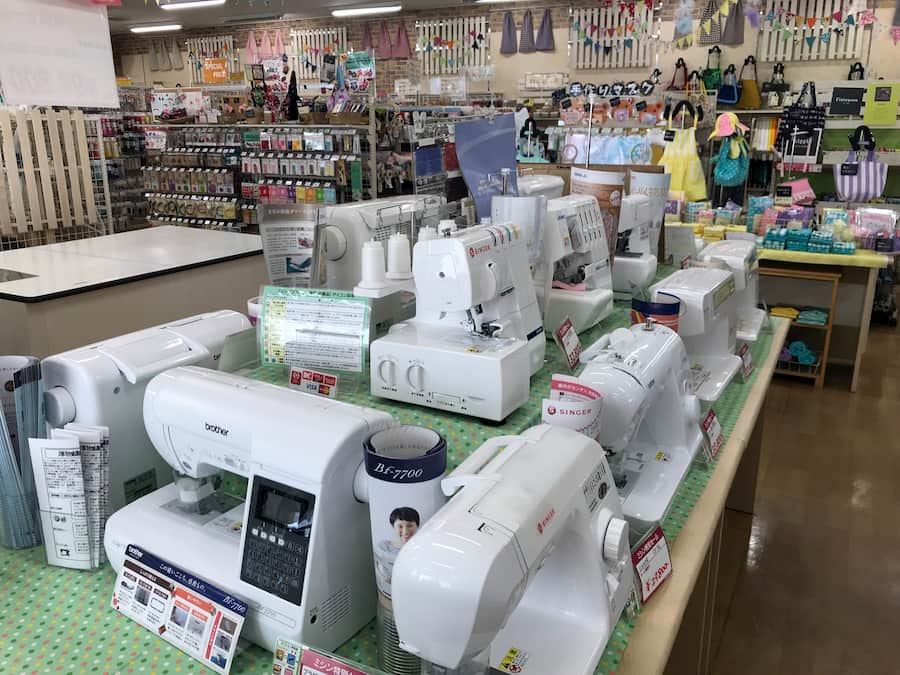 クラフトハートトーカイ川越店のミシン