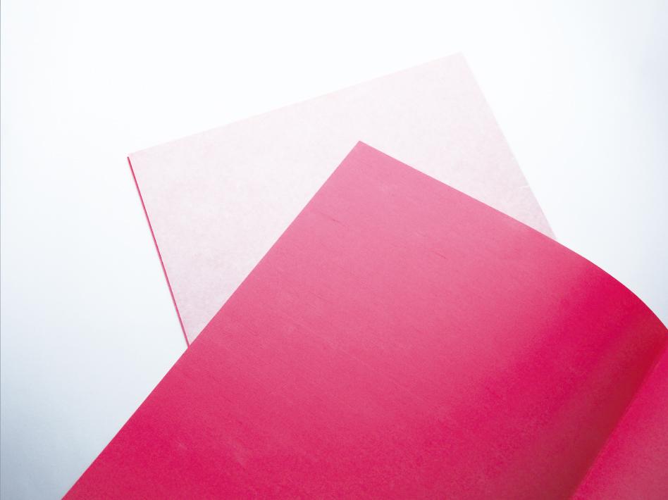 ピンク色の布用複写紙