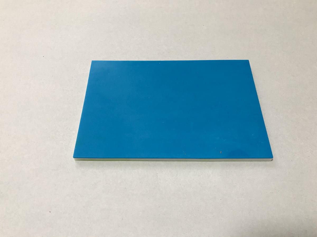 ダイソーの青い消しゴムスタンプ