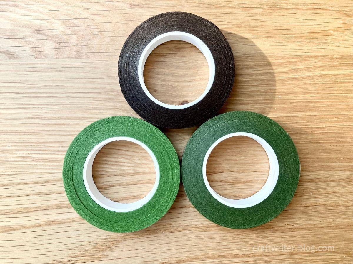 3色のフローラルテープ