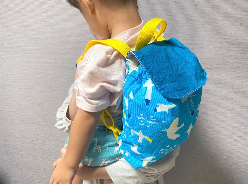 子供とハンドメイドのバッグ
